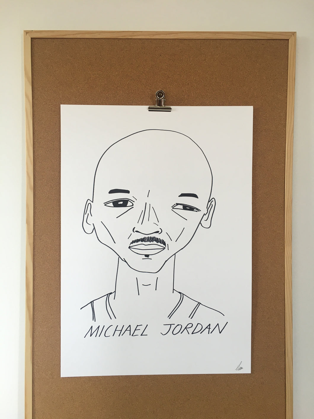 Badly Drawn Michael Jordan - Original Drawing - A2 - signed by the artist.