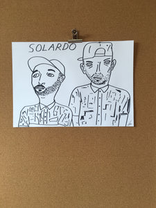 Badly Drawn Solardo - Original Drawing - A3.