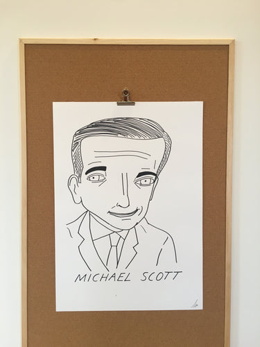 Badly Drawn Michael Scott - Original Drawing - A2.