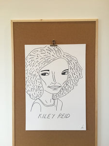 Badly Drawn Kiley Reid - Original Drawing - A2.
