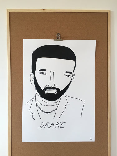 Badly Drawn Drake - Original Drawing - A2.