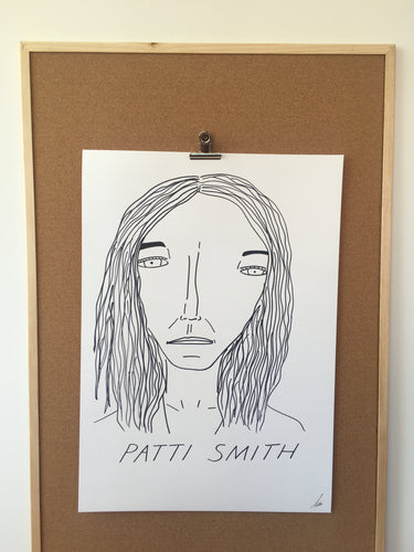 Badly Drawn Patti Smith - Original Drawing - A2.