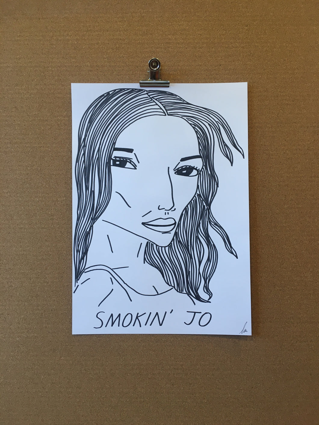 Badly Drawn Smokin' Jo - Original Drawing - A3.