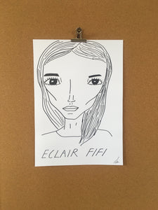 Badly Drawn Eclair Fifi - Original Drawing - A3.