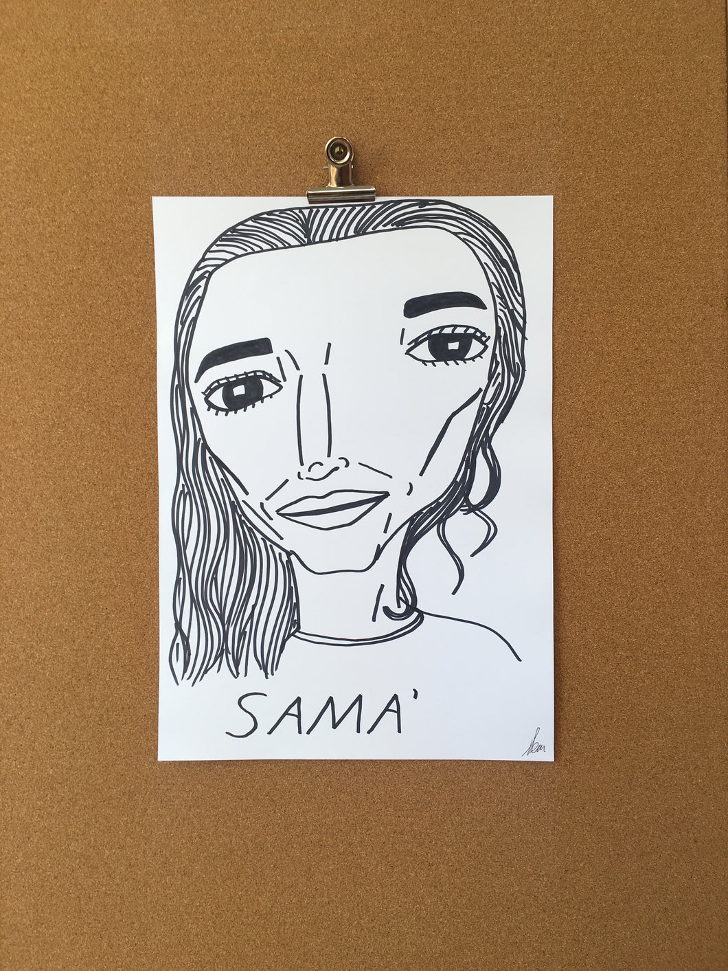 Badly Drawn SAMA' - Original Drawing - A3.