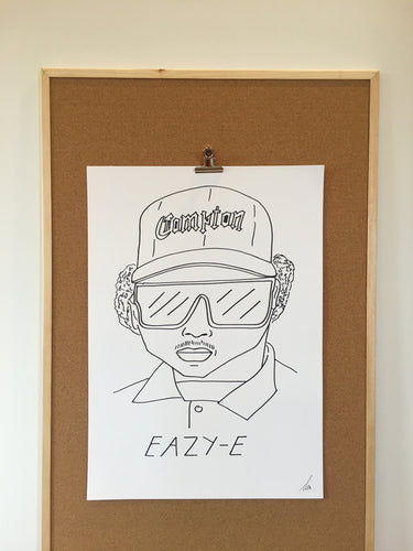 Badly Drawn Eazy-E  - Original Drawing - A2.