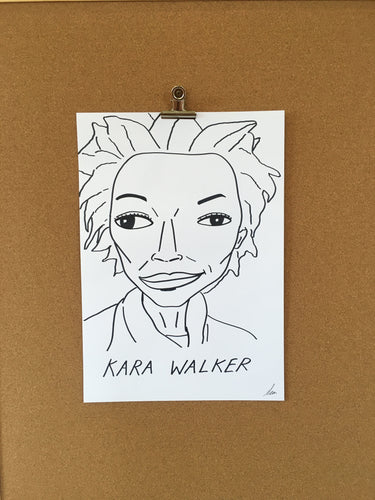 Badly Drawn Kara Walker - Original Drawing - A3.