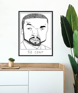 Badly Drawn 50 Cent - Poster - BUY 2 GET 3RD FREE ON ALL PRINTS