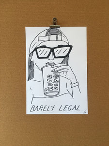 Badly Drawn Barely Legal  (2 of 3) - Original Drawing - A3.