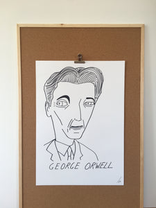 Badly Drawn George Orwell - Original Drawing - A2.