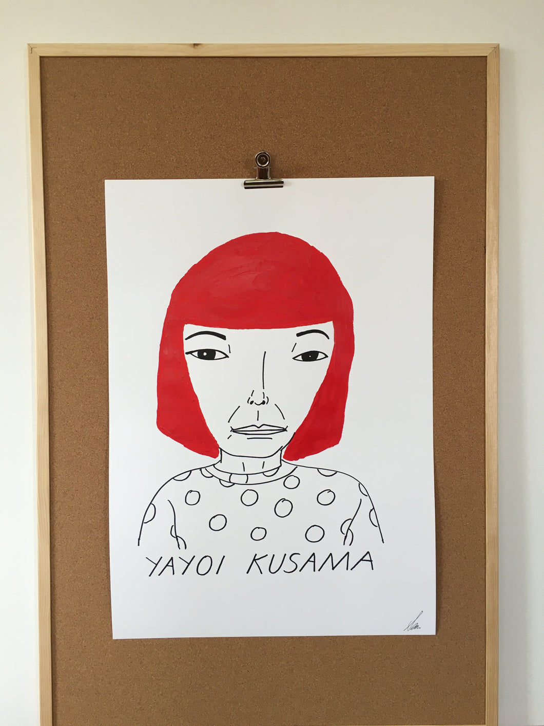 Badly Drawn Yayoi Kusama - Original Drawing - A2.