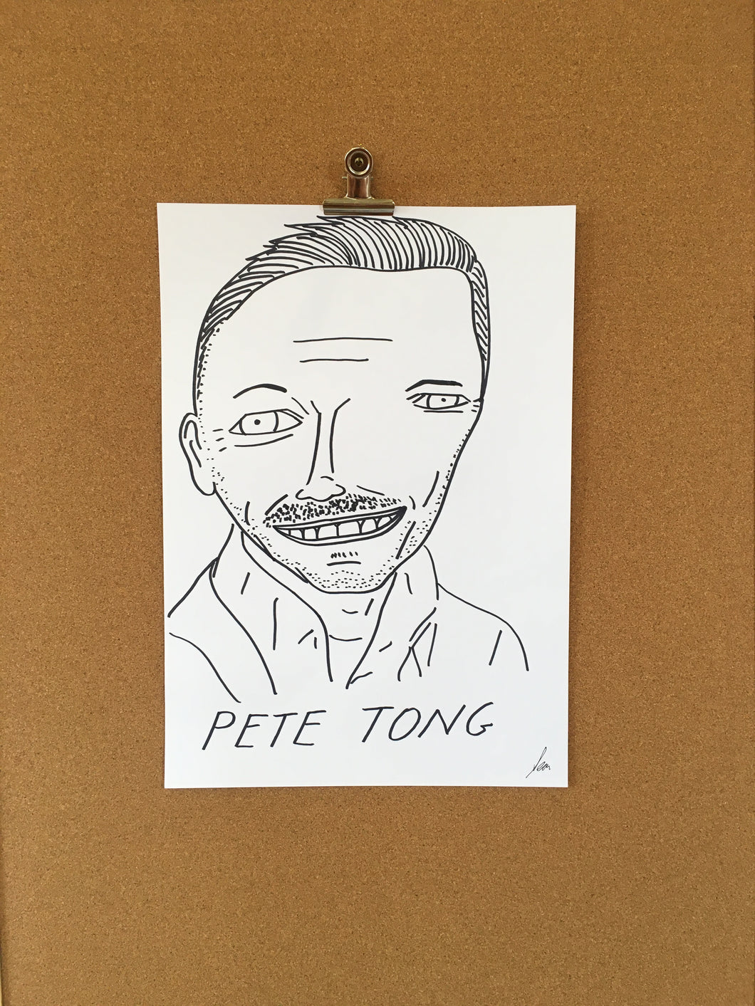 Badly Drawn Pete Tong - Original Drawing - A3.