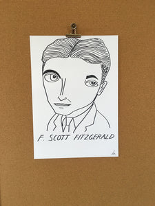 Badly Drawn F. Scott Fitzgerald - Original Drawing - A3.