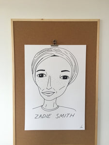 Badly Drawn Zadie Smith - Original Drawing - A2.