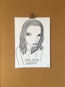 Badly Drawn Helena Hauff - Original Drawing - A3.
