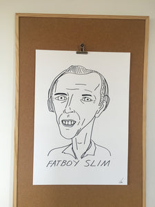 Badly Drawn Fatboy Slim - Original Drawing - A2.
