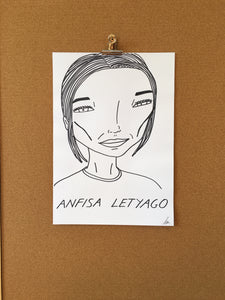 Badly Drawn Anfisa Letyago - Original Drawing - A3.