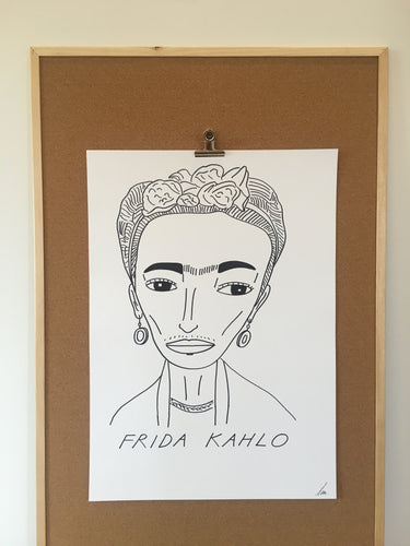 Badly Drawn Frida Khalo - Original Drawing - A2.