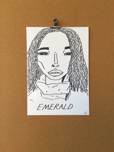 Badly Drawn Emerald - Original Drawing - A3.