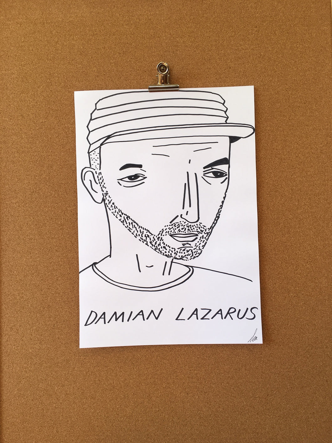 Badly Drawn Damian Lazarus - Original Drawing - A3.