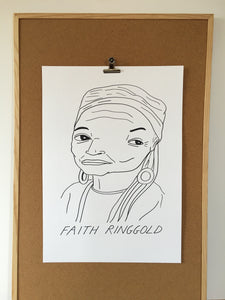 Badly Drawn Faith Ringgold - Original Drawing - A2