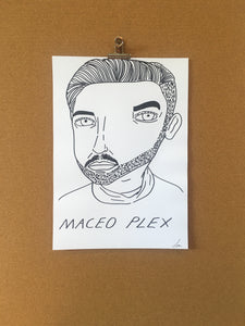 Badly Drawn Maceo Plex - Original Drawing - A3.