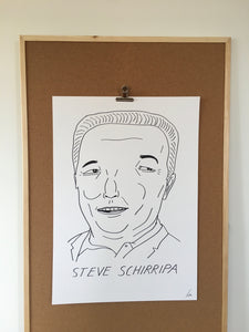 Badly Drawn Steve Schirripa - Original Drawing - A2.