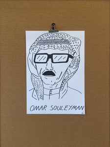 Badly Drawn Omar Souleyman - Original Drawing - A3.