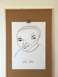 Badly Drawn Dr Dre - Original Drawing - A2.