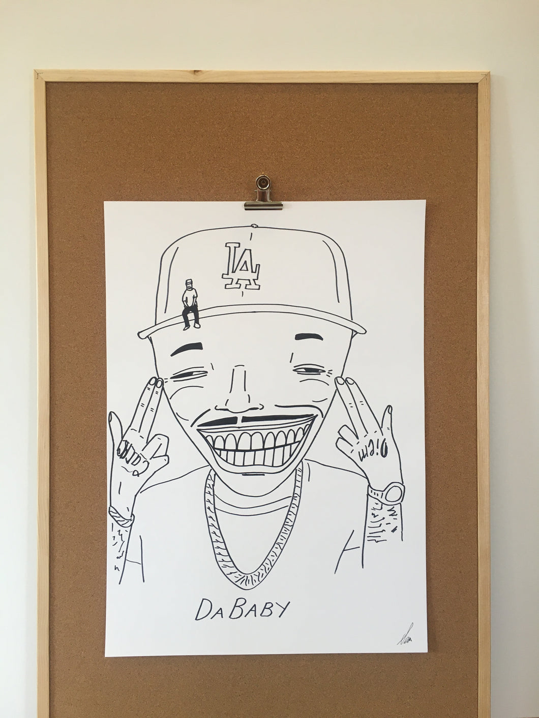 Badly Drawn DaBaby - Original Drawing - A2.