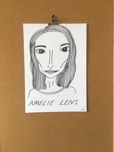Badly Drawn Amelie Lens - Original Drawing - A3.