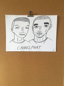 Badly Drawn Camelphat - Original Drawing - A3.