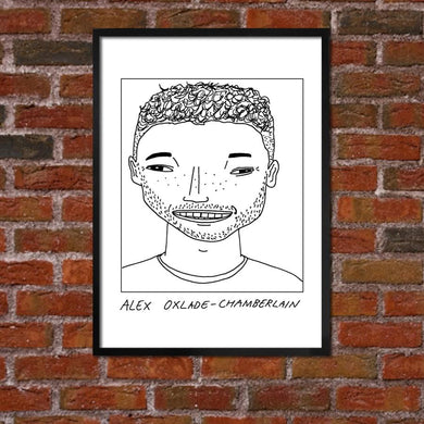 Badly Drawn Alex Oxlade-Chamberlain - Liverpool F.C. Premier League Champions - Poster