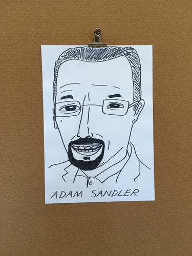 Badly Drawn Adam Sandler - Original Drawing - A3.