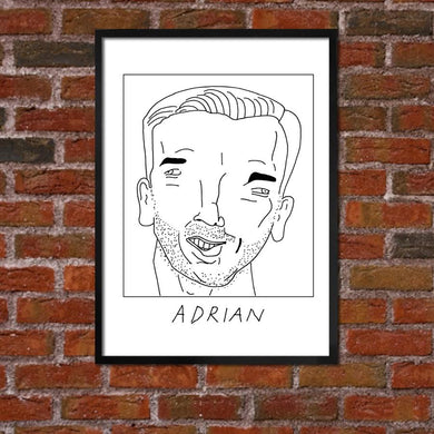 Badly Drawn Adrian - Liverpool F.C. Premier League Champions - Poster