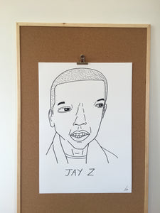 Badly Drawn Jay Z - Original Drawing - A2.