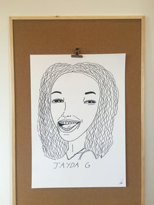 Badly Drawn Jayda G - Original Drawing - A2.