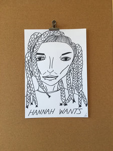 Badly Drawn Hannah Wants - Original Drawing - A3.