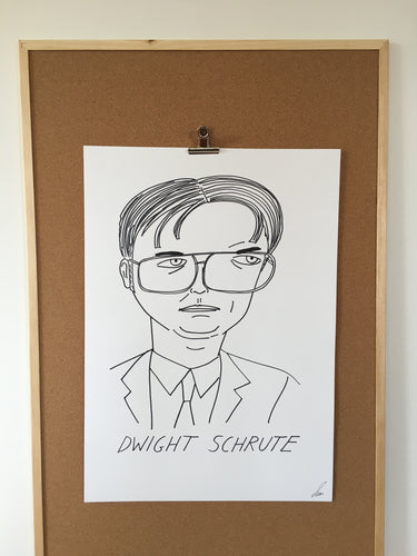 Badly Drawn Dwight Schrute - Original Drawing - A2.