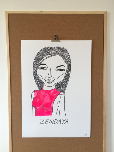 Badly Drawn Zendaya - Original Drawing - A2.