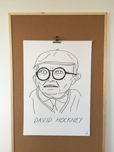 Badly Drawn David Hockney - Original Drawing - A2.