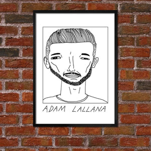Badly Drawn Adam Lallana - Liverpool F.C. Premier League Champions - Poster