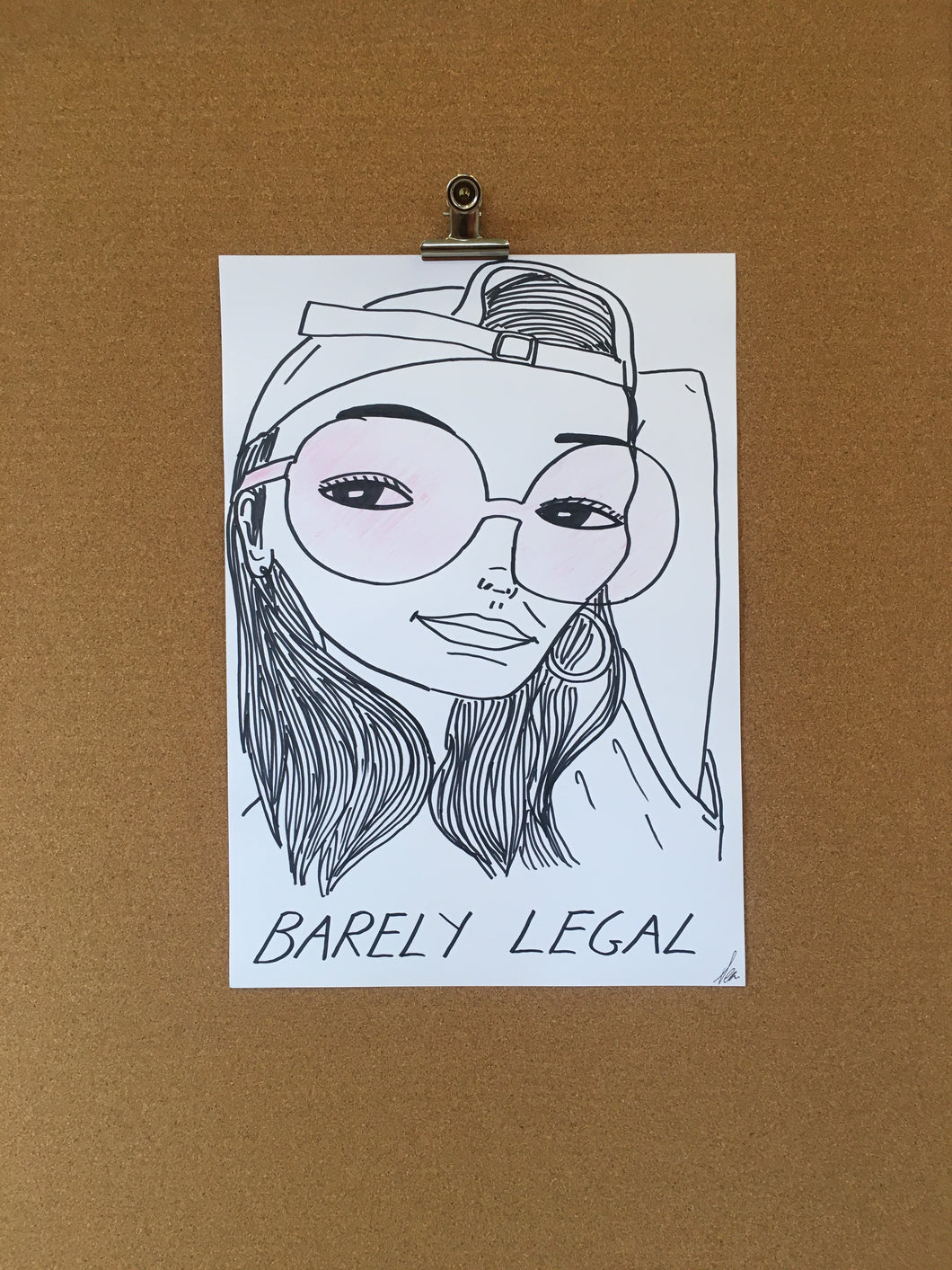 Badly Drawn Barely Legal  (3 of 3) - Original Drawing - A3.