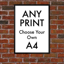 "ANY PRINT - CHOOSE ANY DRAWING - A4 - ""BUY 4 PRINTS, GET THE 5th FREE!"""