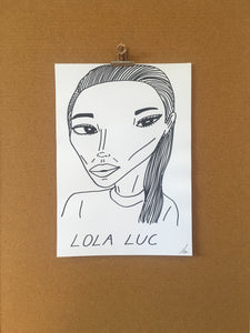 Badly Drawn Lola Luc - Original Drawing - A3.