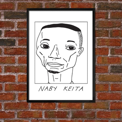 Badly Drawn Naby Keita - Liverpool F.C. Premier League Champions - Poster