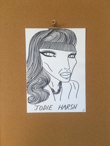 Badly Drawn Jodie Harsh - Original Drawing - A3.