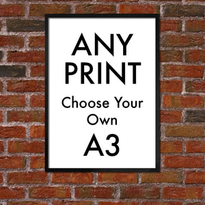 "ANY PRINT - CHOOSE ANY DRAWING - A3 - ""BUY 4 PRINTS, GET THE 5TH FREE!"""