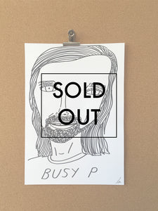 SOLD - Badly Drawn Busy P - Original Drawing - A3.