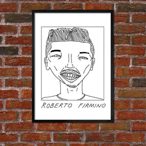Badly Drawn Roberto Firmino - Liverpool F.C. Premier League Champions - Poster